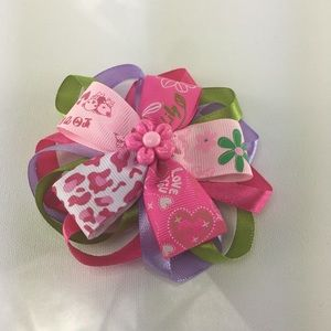 Pink Hair bow ribbon